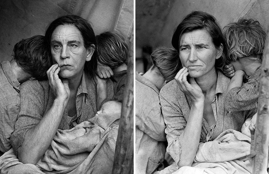 1. Сандро Миллер, Доротея Ланж / Мать-мигрантка, Нипомо, Калифорния (1936), 2014