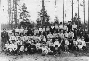 Группа мальчиков, занимающихся гимнастикой при Гимнастическом обществе Пальма