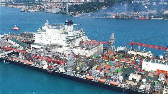 Трубоукладчик для «Турецкого потока» вошел вЧерное море