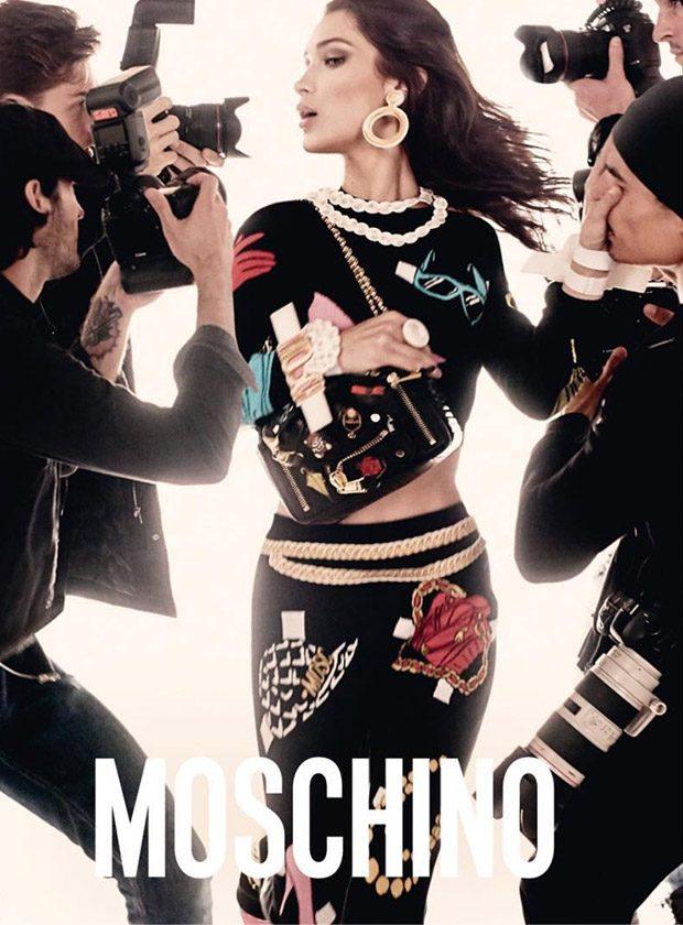 Bella & Gigi Hadid Star in Moschino Spring Summer 2017 Campaign