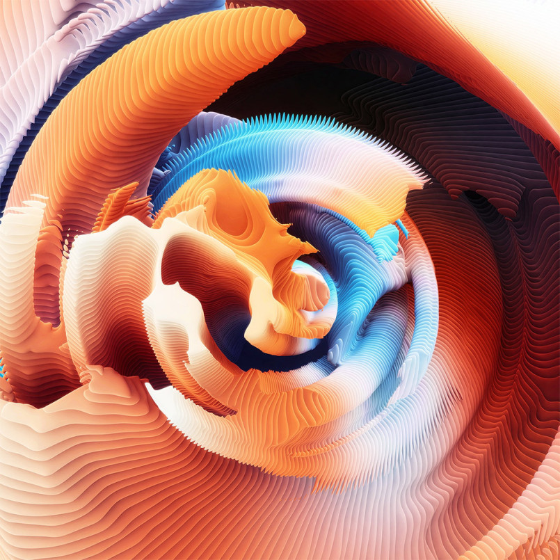 Spirals: Digital Artworks by Ari Weinkle