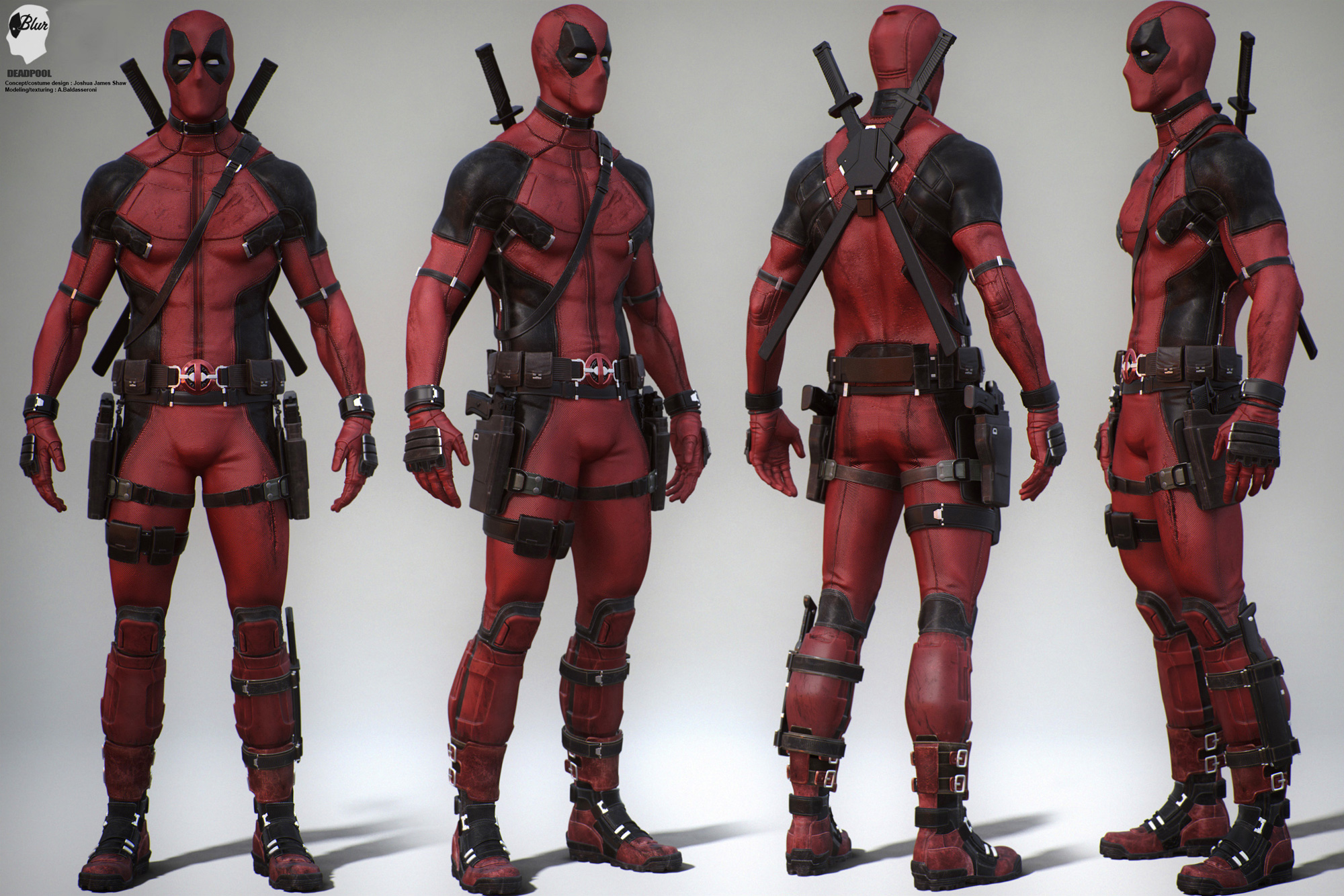 Deadpool Concept Art by Joshua James Shaw