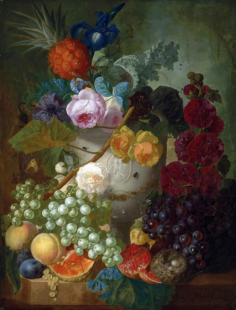 _________ _ _______, ________ _ _______ _______ (Still life with flowers, fruit and bird's nest)_68.5 x 52.3__.,_.________ ________.jpg