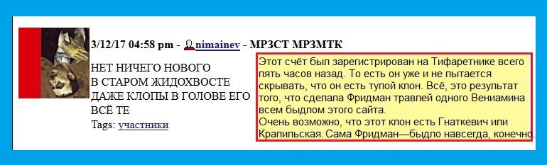 клоны, Гнаткевич, Крапильская, Фридман