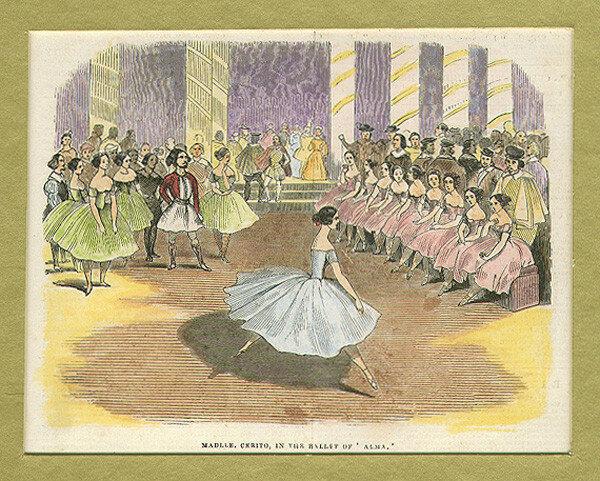 Fanny Cerrito dans Alma Ou La Fille de Feu en 1844