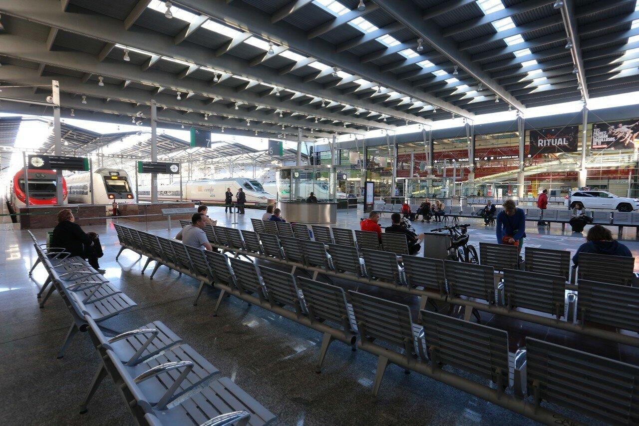 Malaga. Train station Maria Zambrano (Estacion Maria Zambrano)