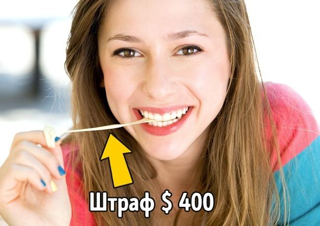 © depositphotos  ВСингапуре существует жесткий запрет наимпорт ипродажу жевательной резинки