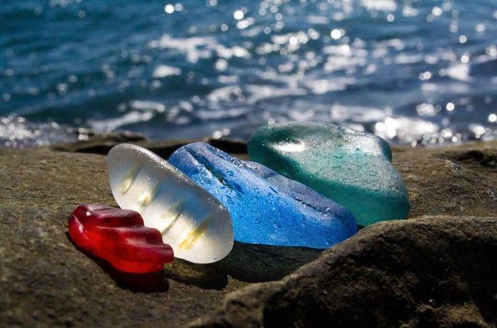 Пляж стеклянной бухты в Уссурийском заливе