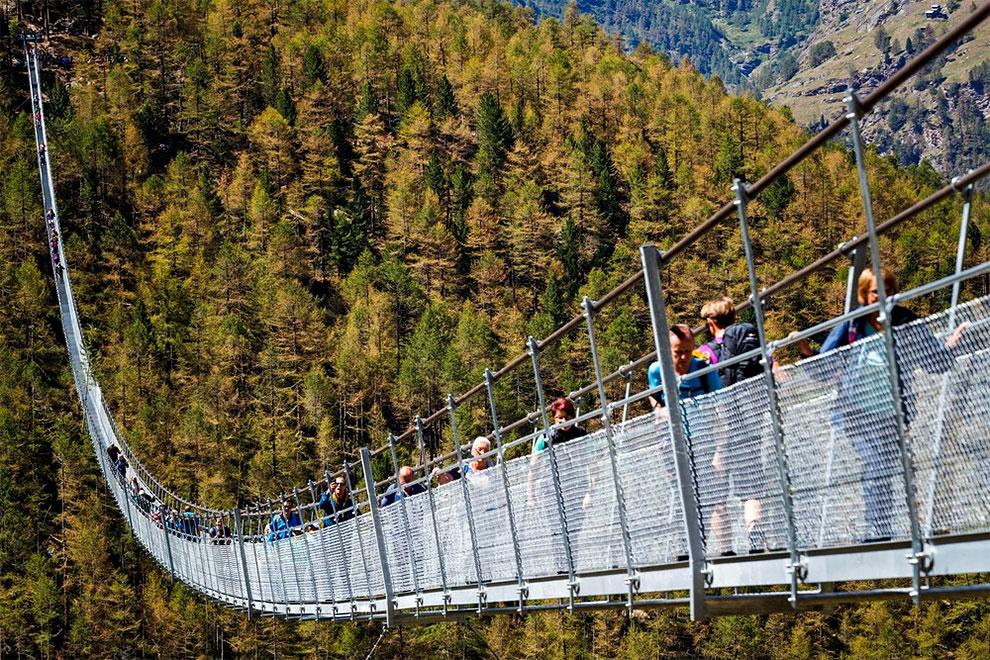 Вниз лучше не смотреть: Europabruecke — самый длинный подвесной мост в мире