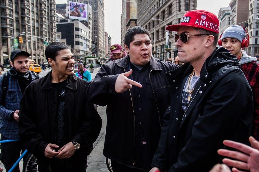 Рэперы на Манхэттене.
