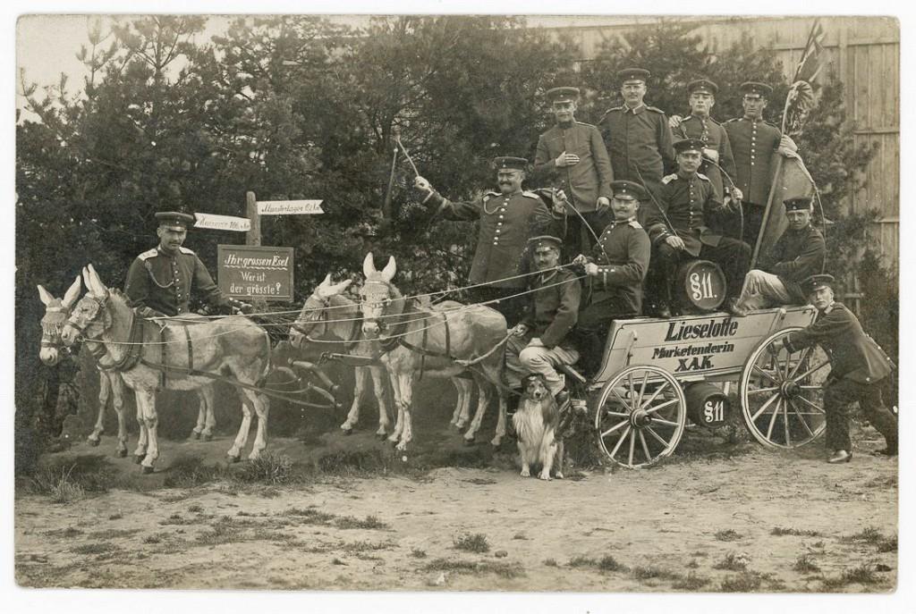 1915 год. Военный лагерь Мюнстера, Германия.