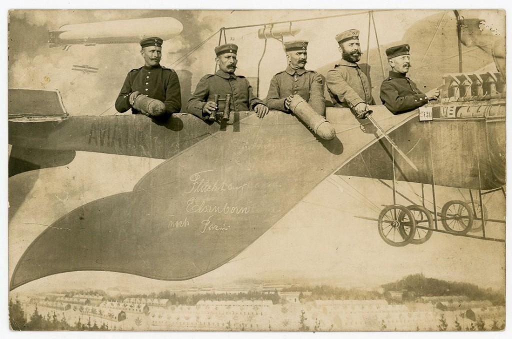 1915 г. «Перелет из Эльзенборна в Париж». Военный полигон, Эльзенборн, Германия.