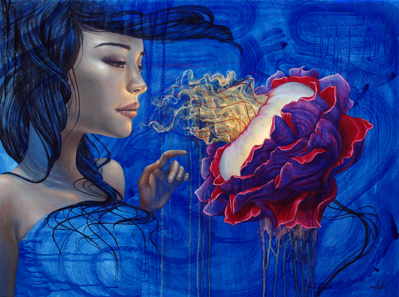 Менди Цзун родилась в городке Банф, старейшем национальном парке Канады. Прежде чем заняться живопис