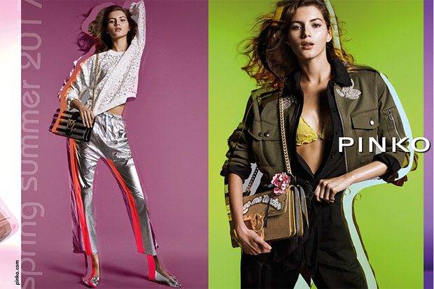 Valery Kaufman Models Pinko Spring Summer 2017 Collection (4 pics)