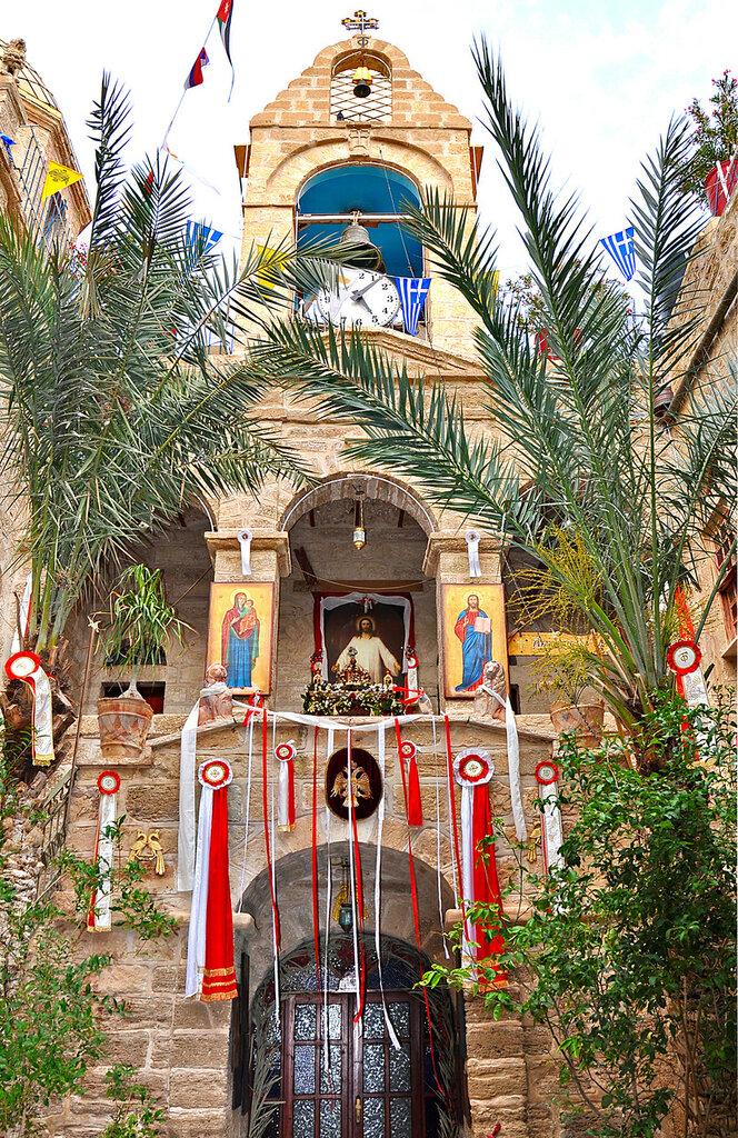 Внутренний дворик монастыря Герасима Иорданского
