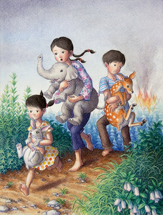 Beautiful Illustrations by Shinya Okayama