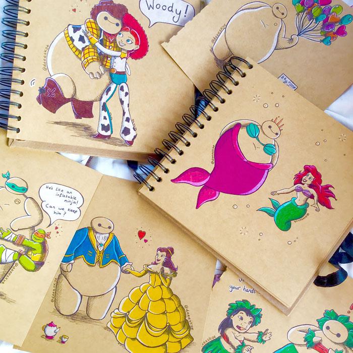 Baymax como personagens da Disney