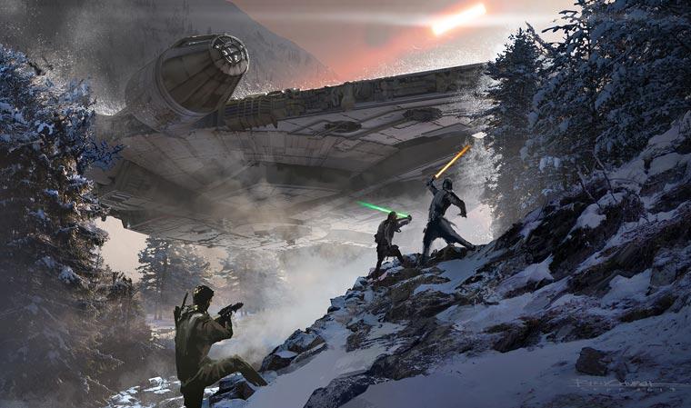 Star Wars VII Concept Art - ILM devoile de magnifiques dessins preparatoires