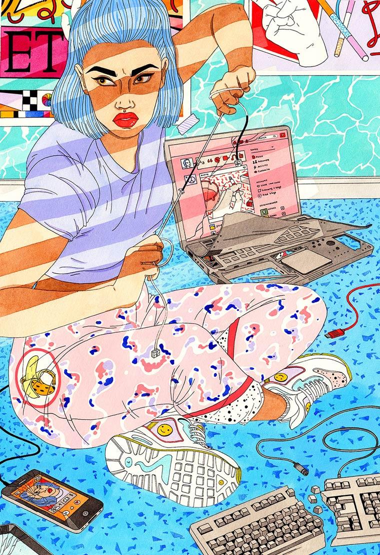 Les illustrations colorees de Laura Callaghan