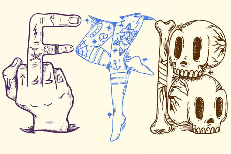 36 Days Of Type – Un joli abecedaire entre tatouage et typographie (39 pics)