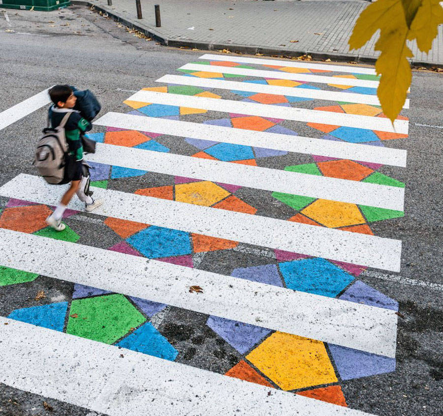 Madrid's Crosswalks Turned into Colorful Artworks