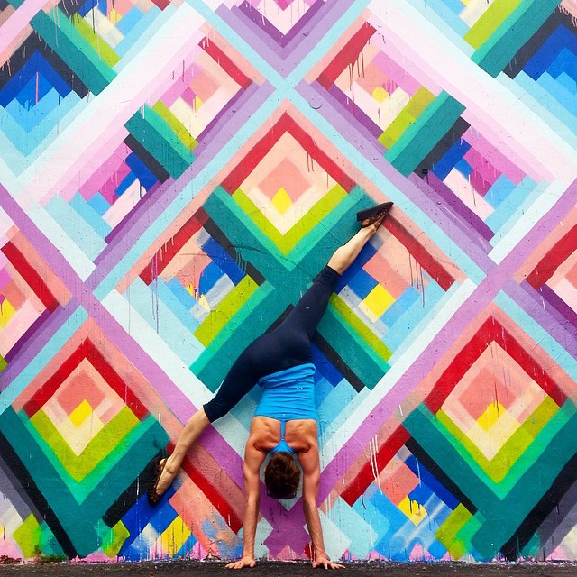 Yoga Poses with Street Art Graffiti (10 pics)