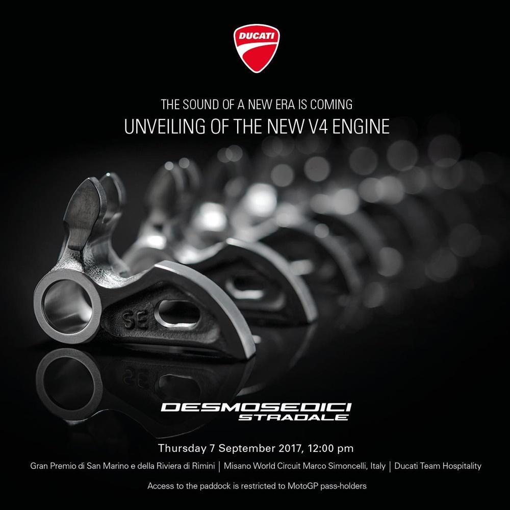 Новый двигатель Ducati V4 называется «Desmosedici Stradale»