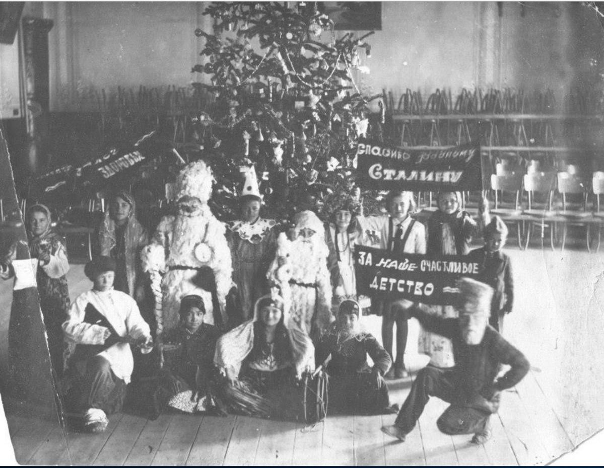 1936. Первая разрешенная елка в школе № 1 города Намангана Узбекской ССР