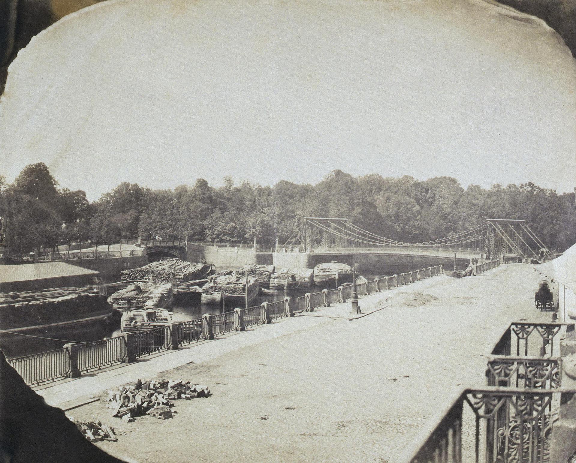 1850-е. Вид на Пантелеймоновский мост через Фонтанку