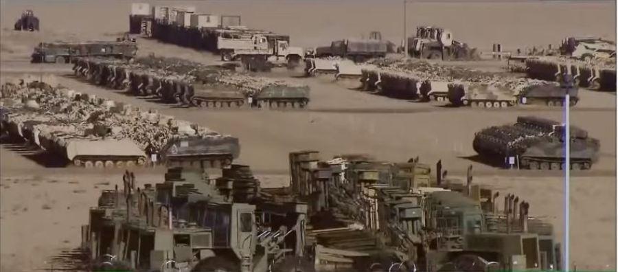 Армейские склады бронетехники в пустыне Калифорнии