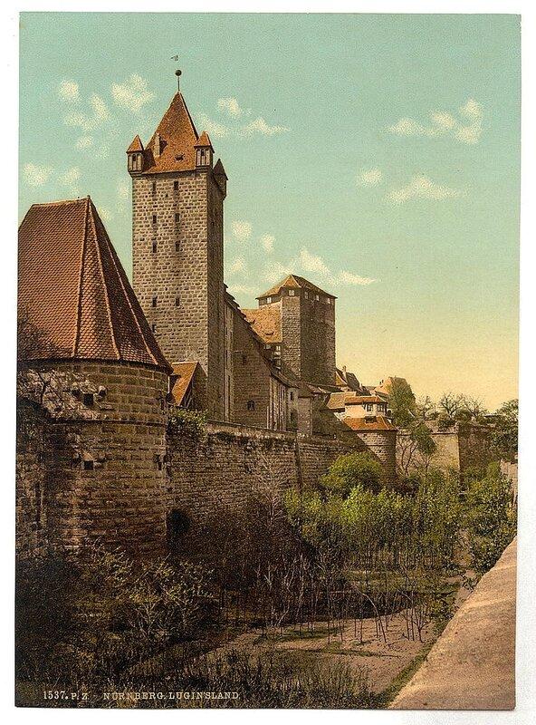Виды Германии на цветных фотографиях 19 века. 4.