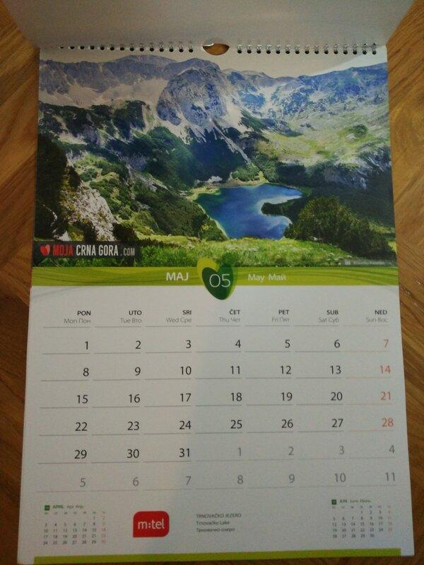 Календарь Черногории