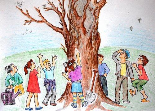 Какое дерево вырастили! открытки фото рисунки картинки поздравления