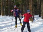 Пермь, Липовая гора, тренировка лыжников в детской спортивной школе. СВ