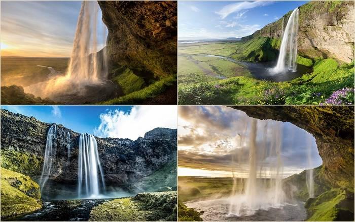 Водопад Селйяландсфосс расположился на реке Сельяландса, в 30 километрах западнее города Скогара. Пр
