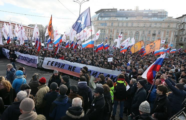 Власти Москвы согласовали заявку напроведение «Марша Немцова»