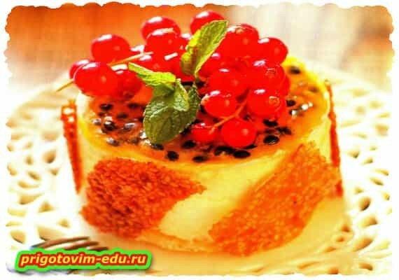 Тортики без выпечки из бисквитного печенья