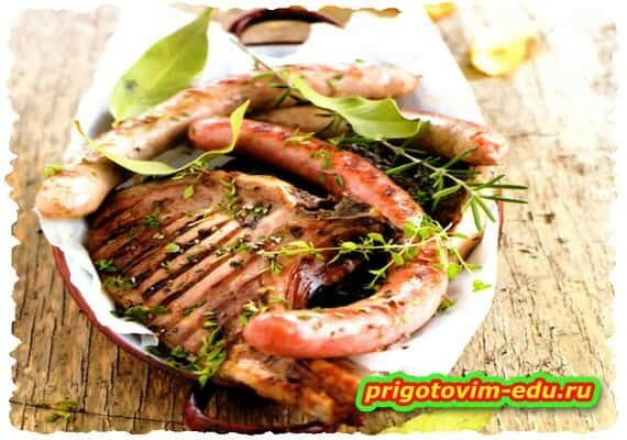Свиная корейка гриль