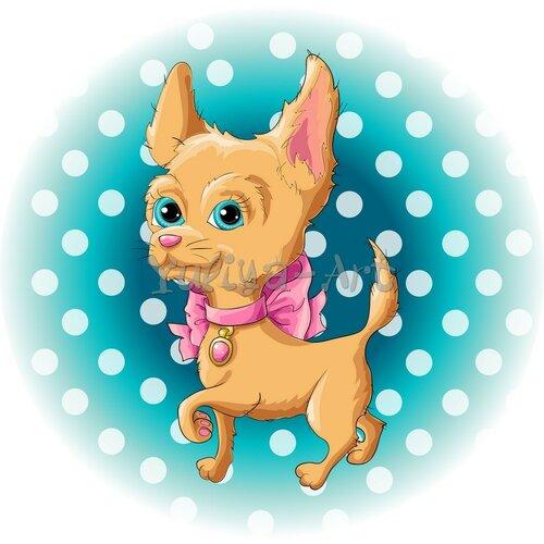 Illustration of a cute dog