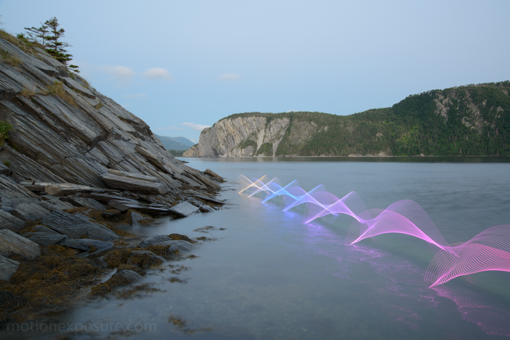New Light Paintings That Capture the Movement of Kayaking and Canoeing by Stephen Orlando