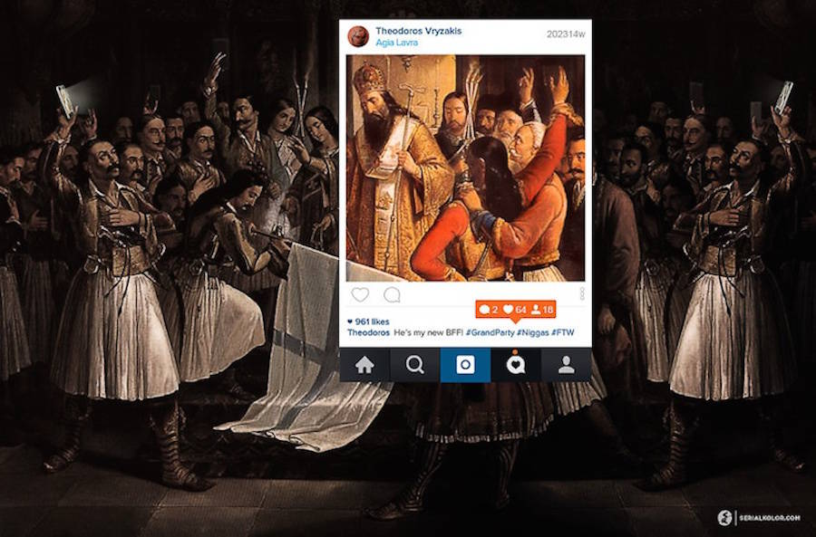 Classical Painting Characters on Instagram
