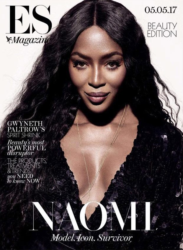 Naomi Campbell Stars in the Cover Story of ES Magazine Beauty Issue
