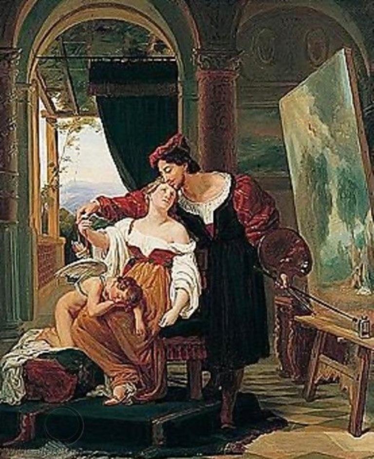 1 Vinchon_An-Artist-Painting-A-Model-Of-Venus-And-Cupid-In-His-Studio.jpg
