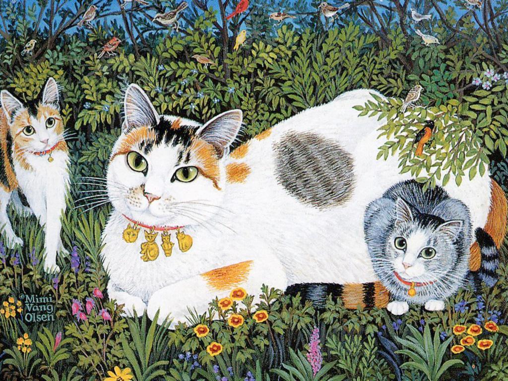Mimi Vang Olsen ~ Hedy & Kittens, De.jpg