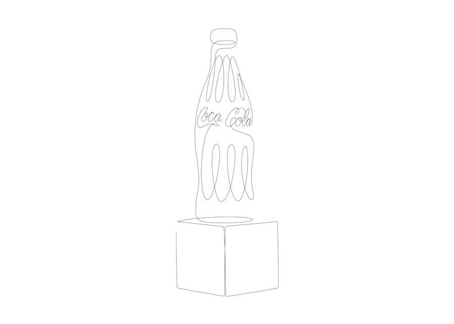 Daily and Pop Culture Objects Drawn with One Line