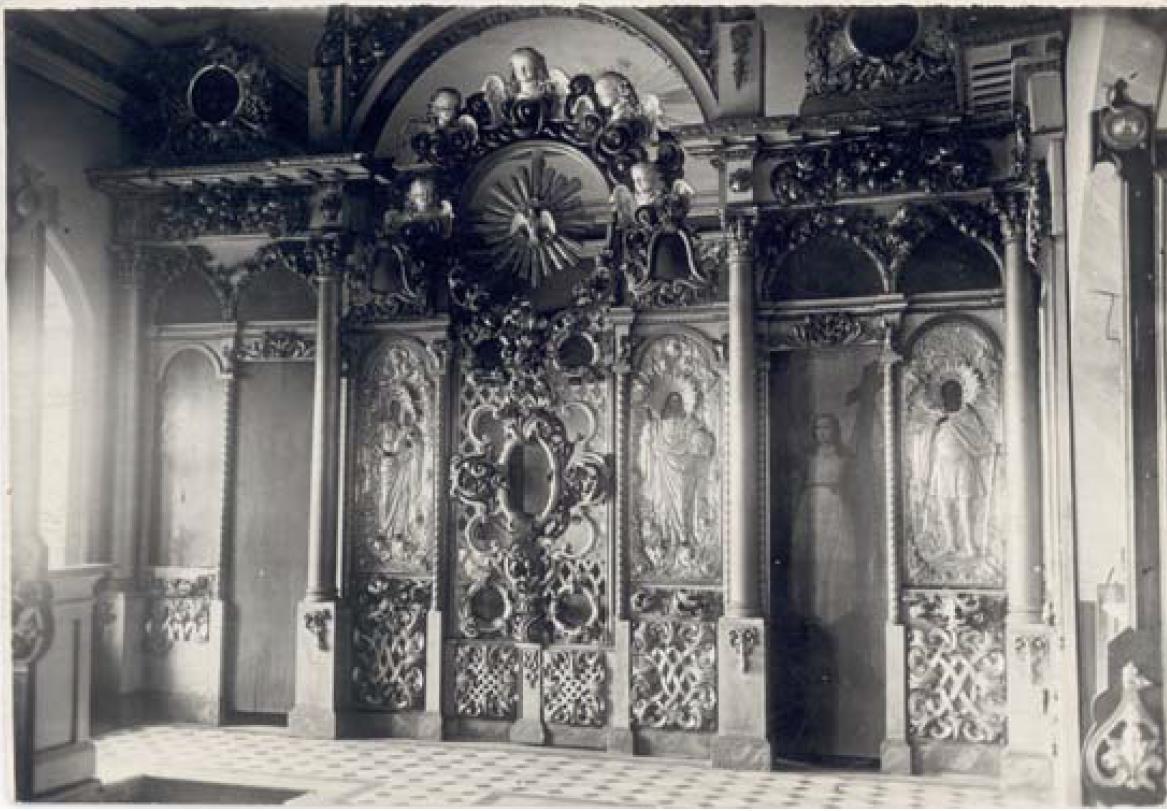 Никитская (Предтеченская) церковь 1765 г. Иконостас придела Великомученика Никиты
