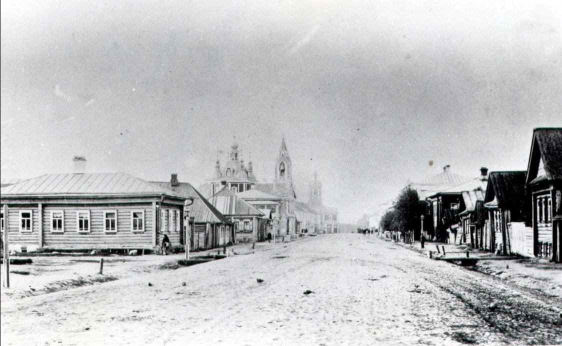 Семёновская улица. Вид от дома Глинского, 1880-е.
