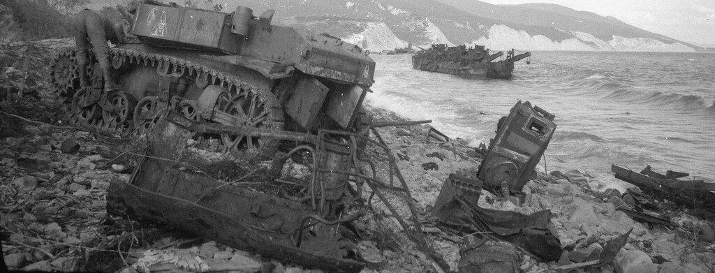 Уничтоженный танк М3л из состава 563-го отб. Южная Озерейка, 1943 год.