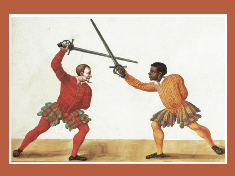Paulus_Hector_Mair.-_Two_fencers,_one_of_African_descent,_wielding_an_early_rapier_De_arte_athletica,_Augsburg,_Germany,_ca_1542.png