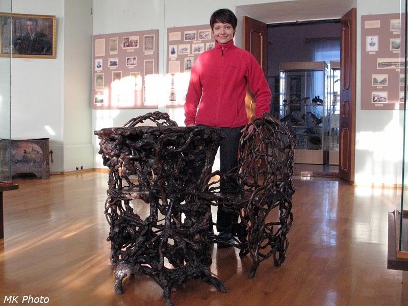 Стол и кресла из корней боярышника и берёзы